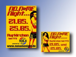 2005: Plakate und Flyer NoNameNight
